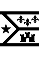 Acadian Flag Icon Decal
