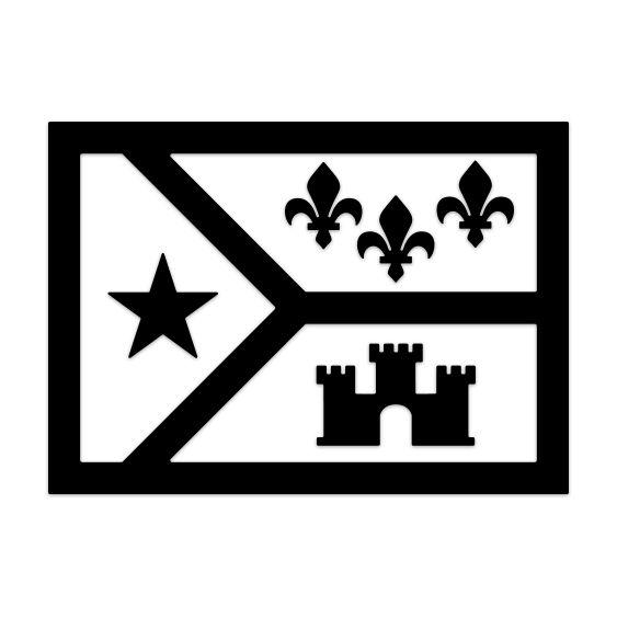 Acadiana Flag Icon Decal