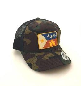 Acadian Flag Camo Trucker Hat