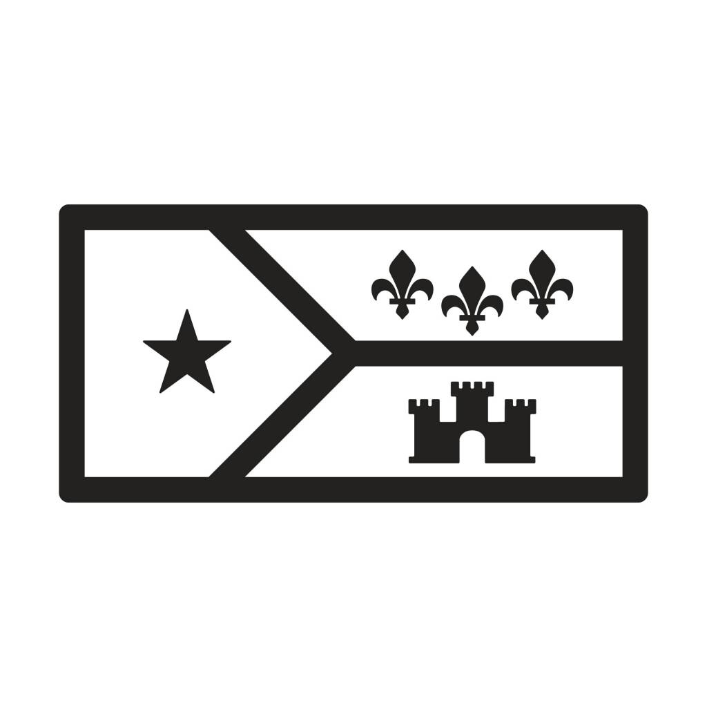 Acadian Flag Icon License Plate