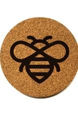 Honeybee Icon Round Cork Coaster