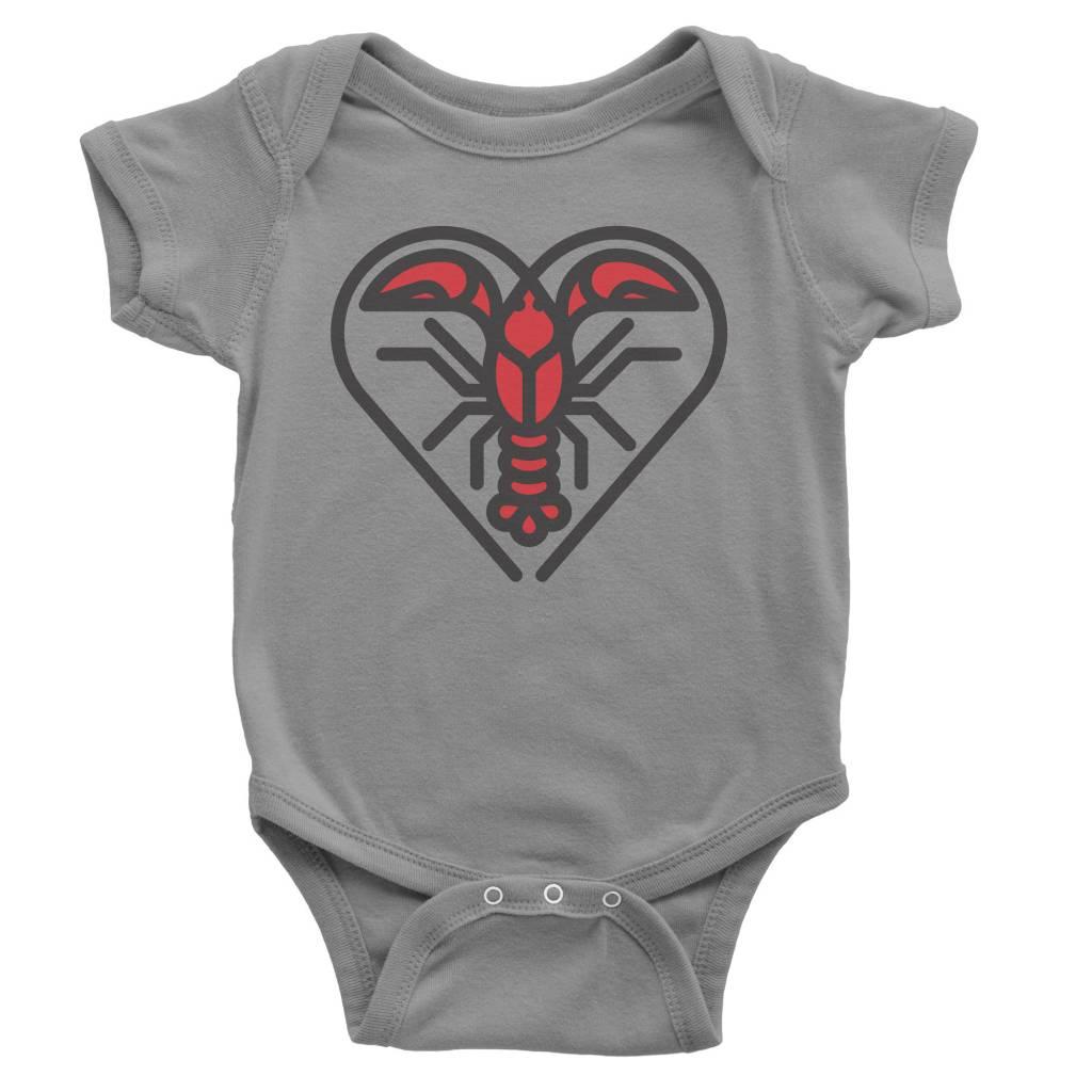 Crawfish Heart Baby Onesie