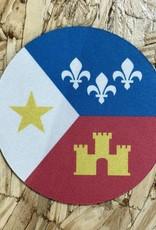 Acadian Flag Coaster
