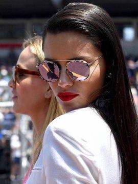 Illesteva Mykonos Sunglasses in Dusty Pink & Honey- Adriana Lima