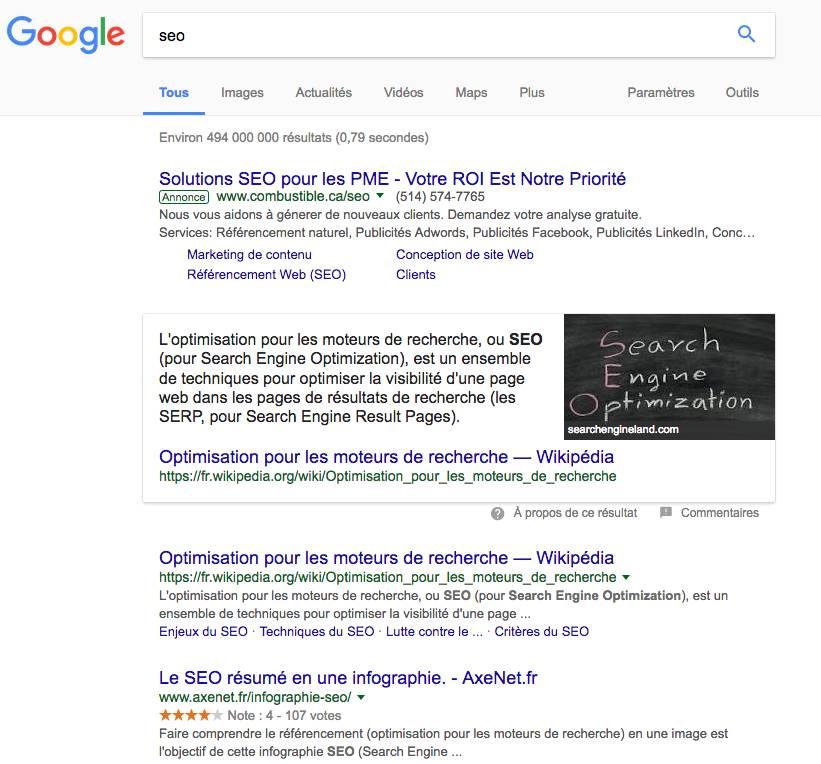 Google Posición