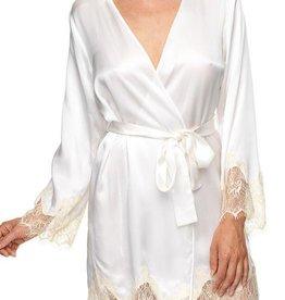 """KissKill KissKill -  Ivory """"Bride"""" Silk Bed Jacket Robe"""
