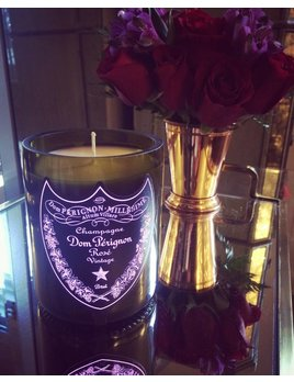 "Under the Influence Candles Dom Perignon Rose Champagne ""Sultry Amber Noir"" Scent - Candles Under the Influence"