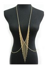 Body Jewelry Body chain gold - Fringe V