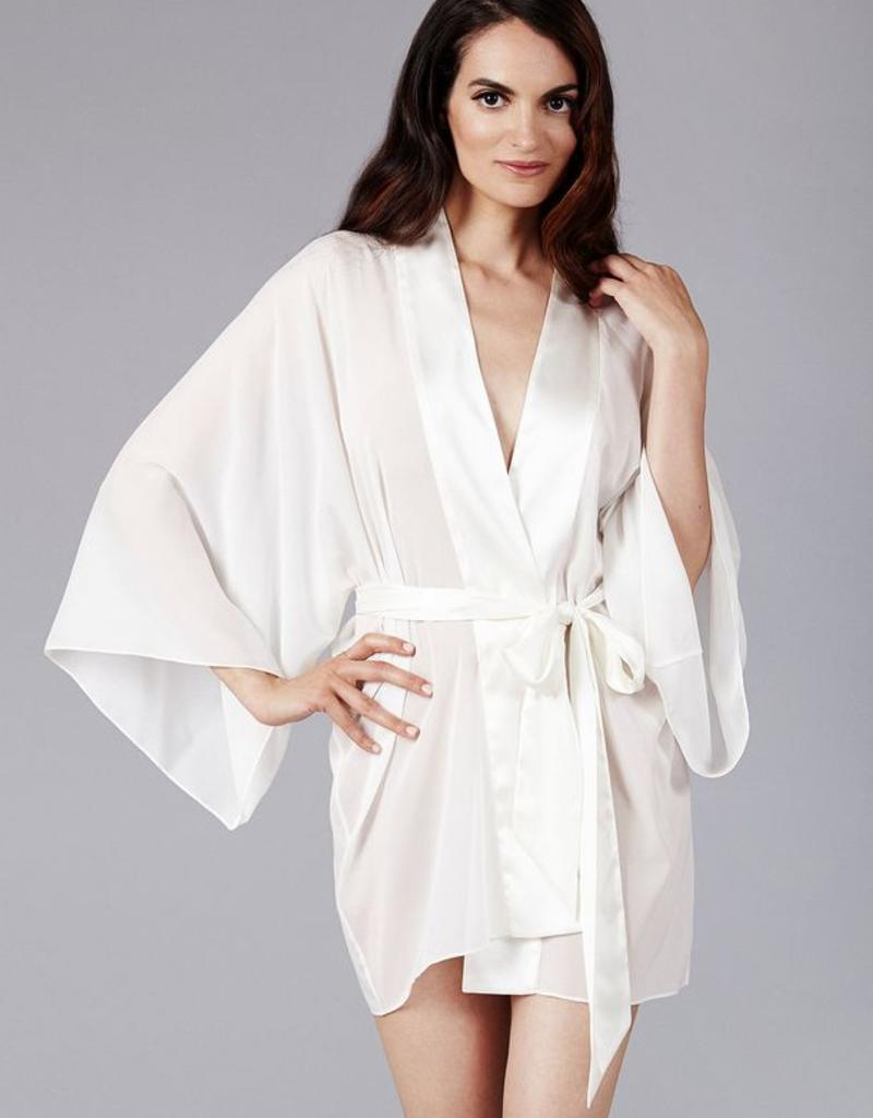 The Giving Bride Silk Chiffon Kimono Robe - Giving Bride - O/S