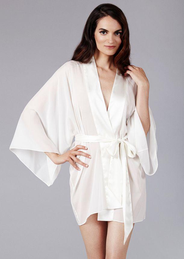 The Giving Bride Silk Chiffon Kimono Robe - Giving Bride - O/S