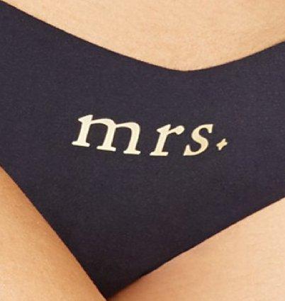 """Commando Commando Applique Thong - """"Mrs"""""""