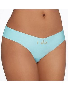 "Commando Commando Applique Thong - ""I Do"""