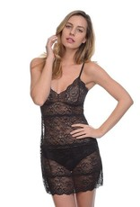 Samantha Chang All Lace Slip and Thong - SC 442121 TWO PIECE SET