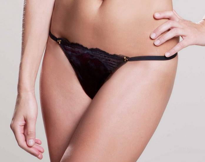 Nevaeh Nevaeh Adjustable Thong O/S  Onyx