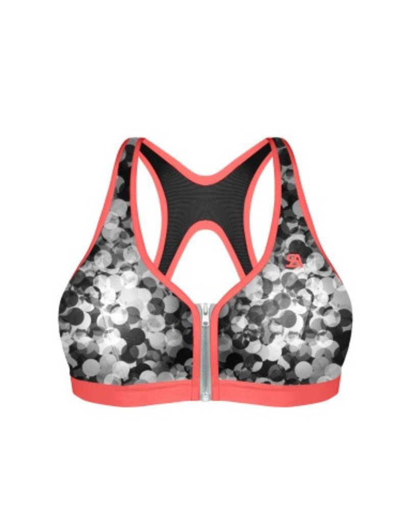 Shock Absorber Sports Bra - active zipped plunge - Shock Absorber