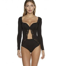 Cosabella Bisou Long Sleeve Teddy with Underwire