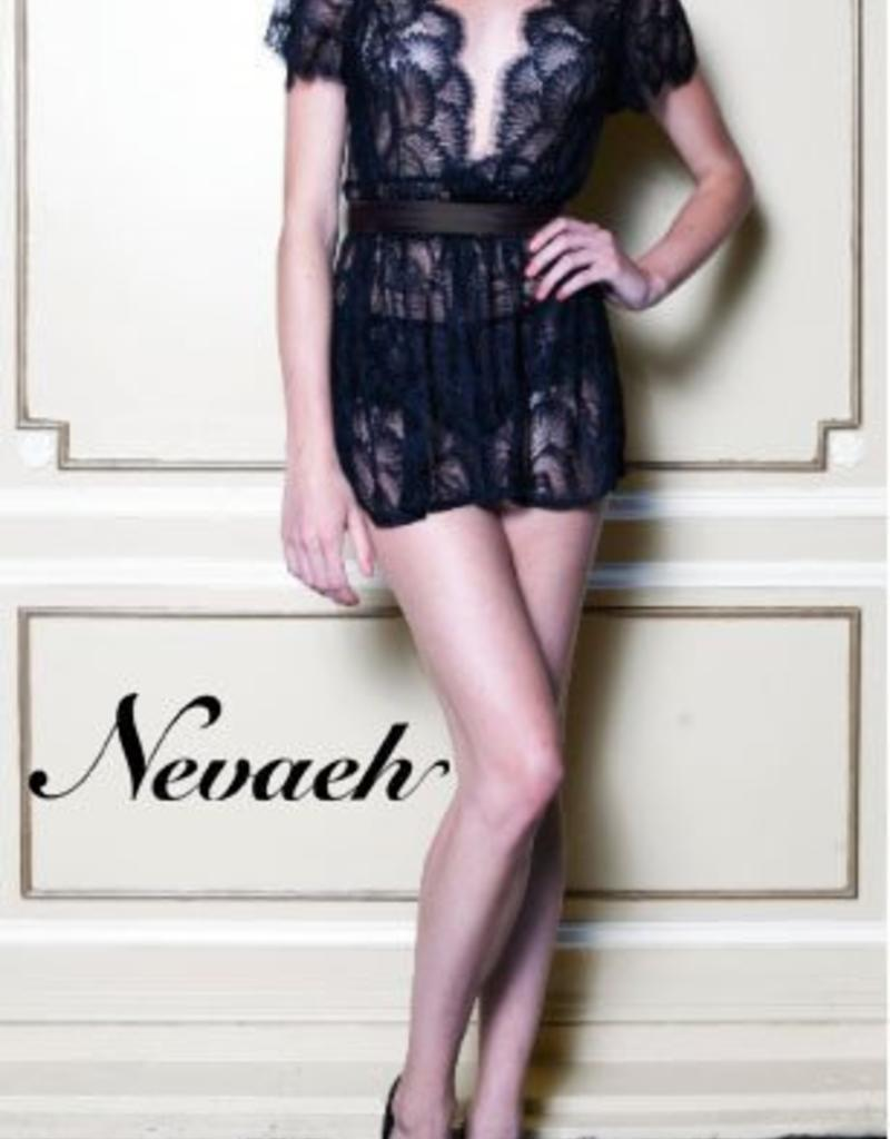 Nevaeh Lace and Silk Bed Jacket - Nevaeh Intimates