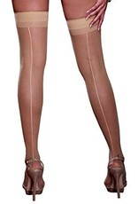 DreamGirl Sheer Thigh High with Back Seam QUEEN- Dreamgirl 0007X