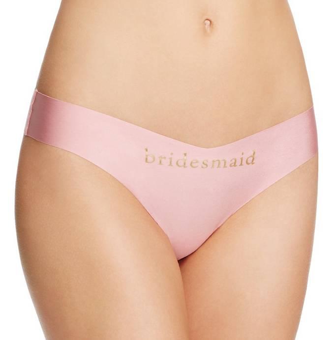 "Commando Commando Applique Thong - ""Bridesmaid"""