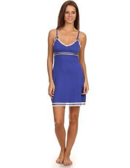 Marilyn Monroe Nightgown - Royal blue with Mesh Trim