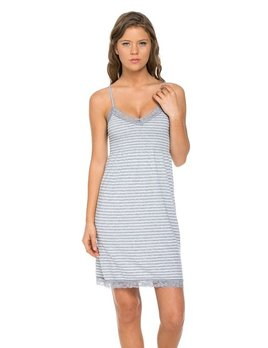 Marilyn Monroe Nightgown - Grey Stripe