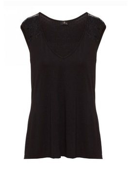 Cosabella Ritz - Cap Sleeve top - Cosabella Black