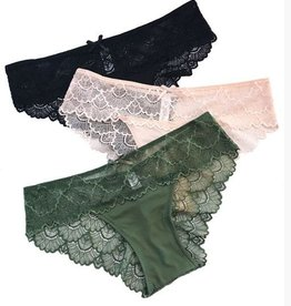 Anemone Scalloped Lace Cheeky - Anemone
