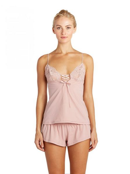 Cosabella Bisou Lace up Cami and Tap Short- Cosabella TWO PIECE SET