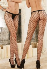DreamGirl Dreamgirl Hosiery - Wide Fishnet Pantyhose - black 0010