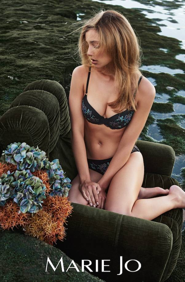 Marie jo Dahlia Round Cup Embroidered Floral Bra