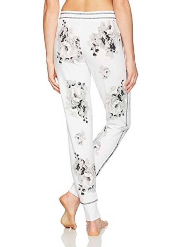 Black and White Skull Floral PJ Tee Shirt and Jog Pant SET - TWO PIECE SET  mae