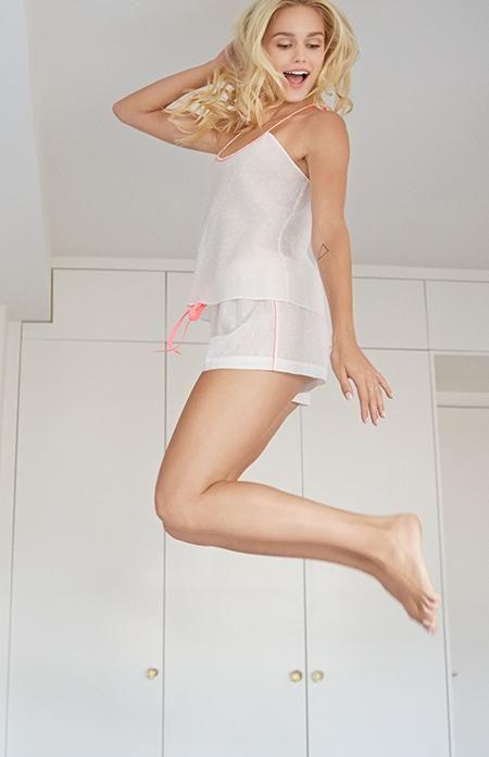 Alessandra Mackenzie Cotton Dot Cami - Alessandra Mackenzie