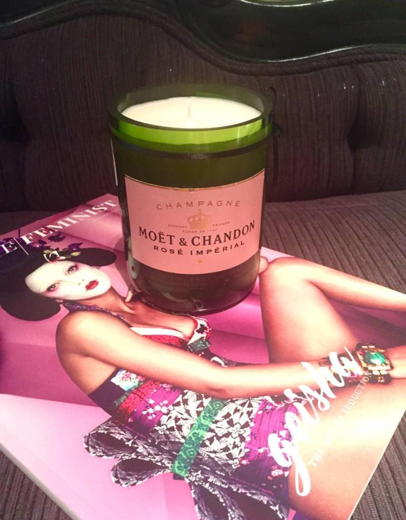 "Under the Influence Candles Moet and Chandon Rose - ""Dim the Lights"" - Candles Under The Influence"