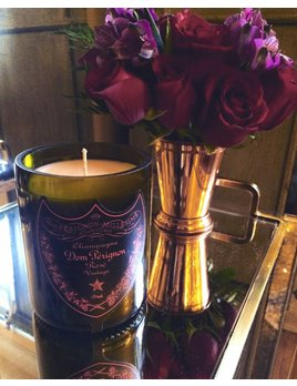 "Under the Influence Candles Dom Perignon Rose Champagne ""Dark Tide"" Scent - Candles Under the Influence"