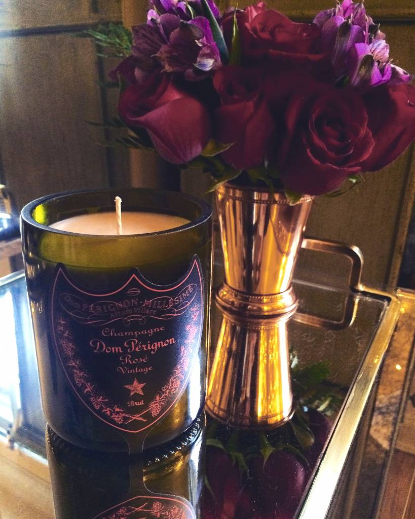 """Under the Influence Candles Dom Perignon Rose Champagne """"Dark Tide"""" Scent - Candles Under the Influence"""