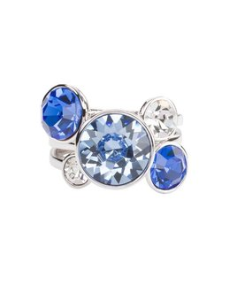 Liza Stacking Ring - three piece - Azure (sz 7)