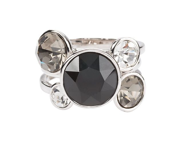 Liza Stacking Ring - three piece - Jet black (sz 7)
