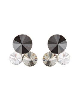 Liza Stud Earring - triple crystal - Jet