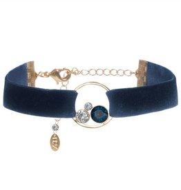 Swarovski Velvet Bracelet - slate