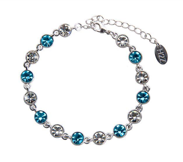 "Liza ""Aquamarine"" Bracelet Swarovski 6.75''-8"""