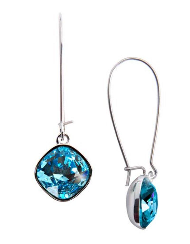 "Isabel Dangle ""Aquamarine"" Earring Swarovski"