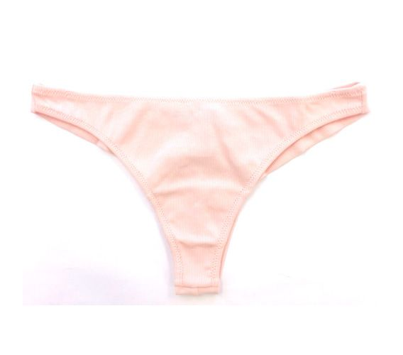 Samantha Chang High Street Ribbed Cotton Thong - S Chang