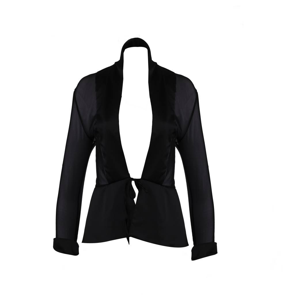 Escora Sheer Black Blazer - Escora