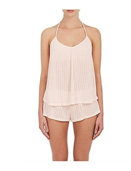 Baxter Pointelle T-Back Cami and Short Set - Eberjey TWO PIECE SET - Medium