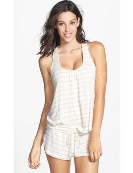 Eberjey Lounge Stripes Racerback Cami and Short Set - Eberjey TWO PIECE SET