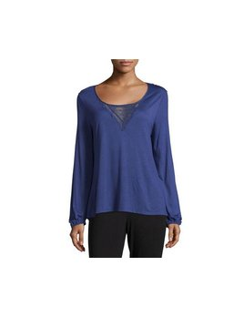 Eberjey Goya Long Sleeve Top - Eberjey Small Black