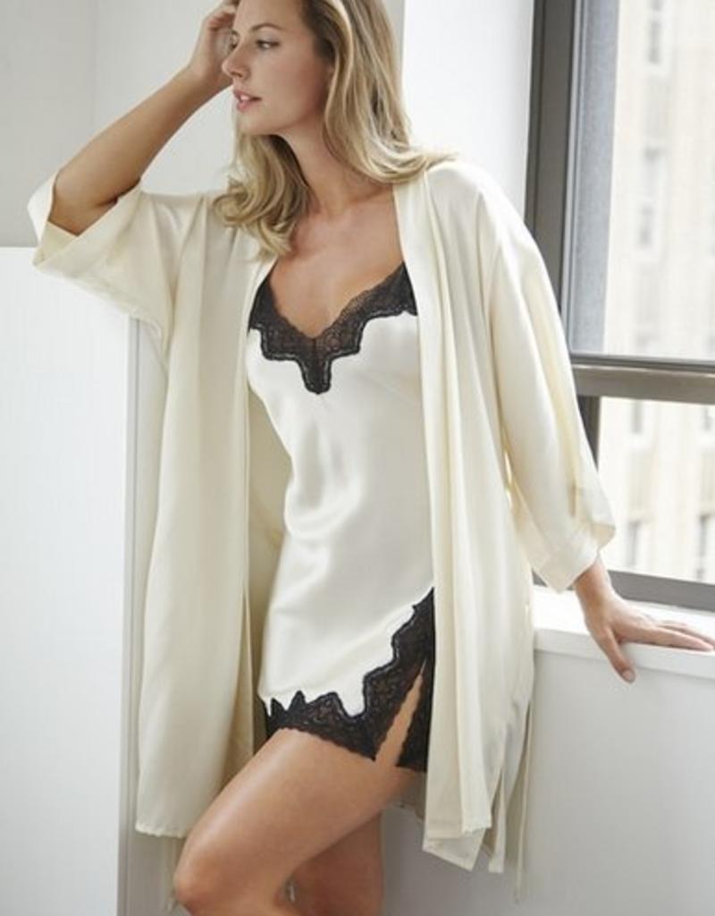 Samantha Chang Silk Kimono - Ivory O/S