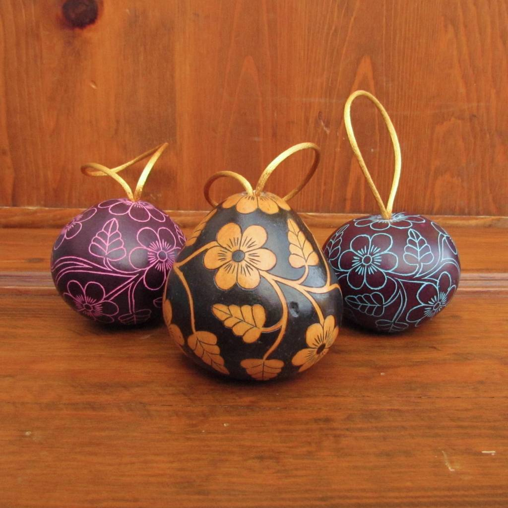 Pedro Osores Floral Gourd Ornament