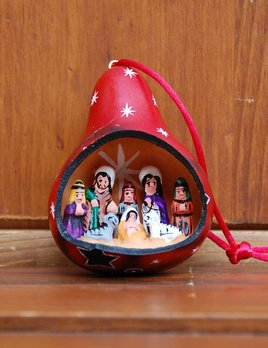 Retablo Nativity Ornament