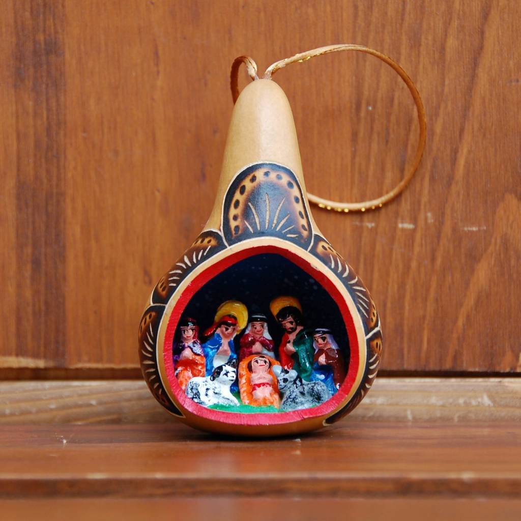 Retablo Nativity Ornament